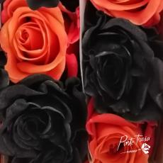 Gefärbt Halloween orange / schwarz gemischt